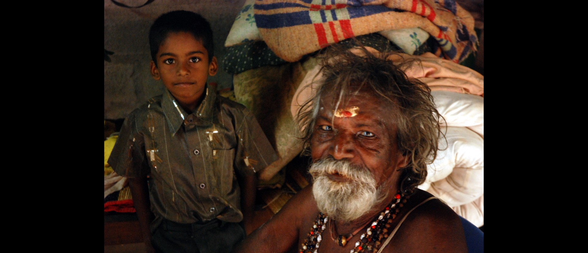 Mutthaiya with his grandson